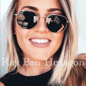 💯% Ray Ban Hexagonal Sunglasses 😎